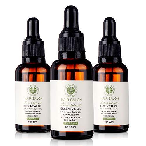 Luckyfine 3Pcsx30ML Hair Salon Essential Oil, Hair Mask Hair Care Premium Treatment Hair Salon Oil- For Beautiful Hair…
