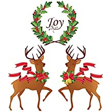 Collections Etc Holiday Joy Reindeer Garage Magnet Set