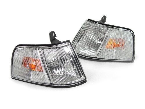 (DEPO 1990-1991 Honda Civic 4DR Sedan Clear Front Corner Lights Set)