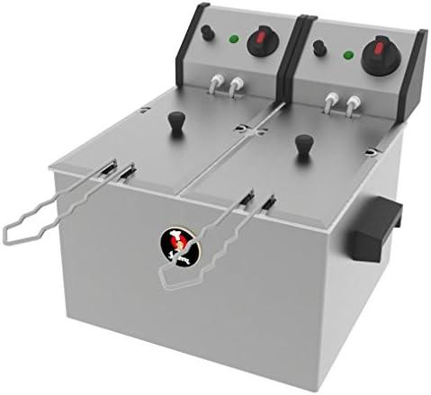Jemi Freidora Doble Industrial Eléctria J-3/2 (2 x 4.5L, 2 x 2.200 ...