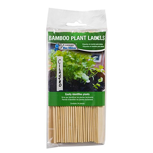 Gardener's Blue Ribbon T020B Bamboo Plant Labels, 6