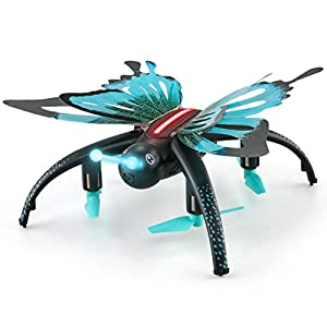 E-SCENERY JJRC RC Voice Control 2.4G FPV 6-Axis Gyro 4CH 3D Flip Quadcopter, RTF Remote Control Drone with 480P HD Camera and LED Night Light, Rechargeable Battery from E-SCENERY