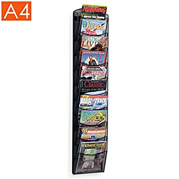 Displaysense 10 Pocket Wall Mounted A4 Magazine Rack Amazoncouk