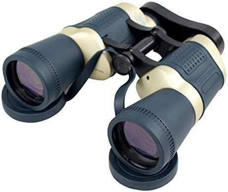 Perrini 30X50 Dark Blue Tan Focus Binoculars With Strap Pouch