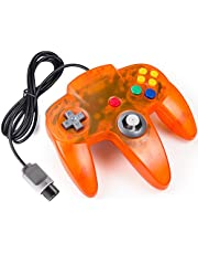 miadore Classic 64 Controller Joystick Remote for N64 Video Game System N64 Console-Clear Orange