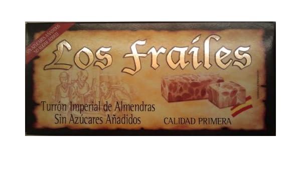 Amazon.com : Los Frailes Turrón Imperial de Almendras Sin Azúcares Añadidos : Gourmet Food : Grocery & Gourmet Food