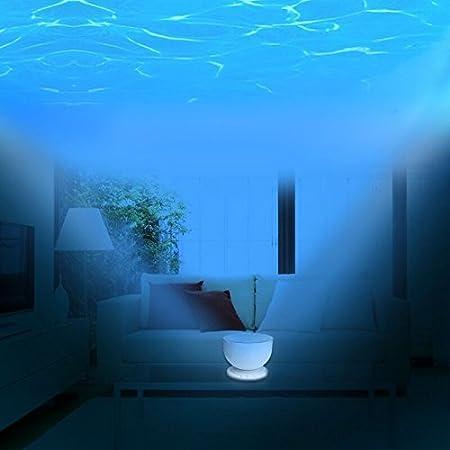 Mar Ocean Waves proyector proyección yooye azul con altavoz luz de ...