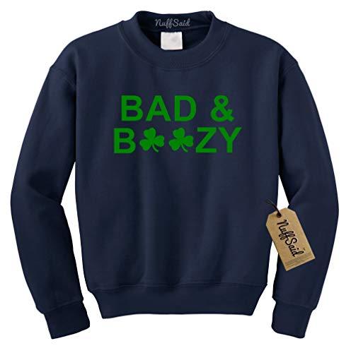 c7d2cee57 NuffSaid Bad & Boozy St. Patrick's Day Crewneck Sweatshirt - Unisex Crew