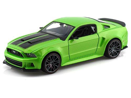 2014 Ford Mustang Street Racer 1/24 Metallic Green - Maisto Diecast Models