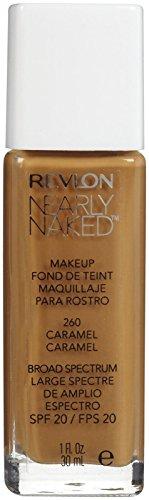 Revlon Nearly Naked Liquid Makeup Broad Spectrum SPF 20, #260 Caramel, 1 Fluid (Spf 20 Caramel)