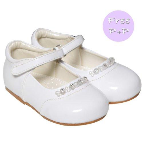 Baby-Rosa Patent Diamant Schuhe Baby-Größe 1 bis 10 Infant