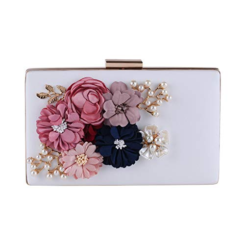 Witte Bag Gift Purse Night Pearl Dames Bloem Bruid Voor Chain Bruiloft Bruiloft Clutch Prom Dames Jxth 6Zq5x4wRq
