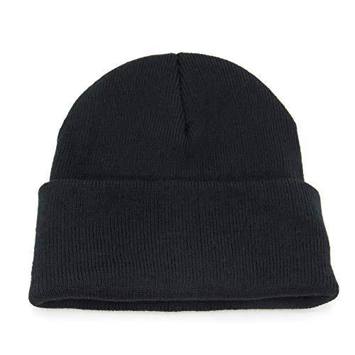 jerague Men Women Acrylic Watch Cap Wool Winter Beanie Skull Cap Embroidery Cuffed Hat ()