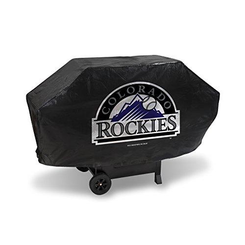 MLB Colorado Rockies Deluxe Grill Cover, Black, 68 x 21 x 35