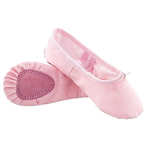 Femmes Chaussure Doux ZAMME De Pour Yoga Chaussures Ballet Danse Filles Flats Sport Rose Les Gym Danse wwr4afztqx