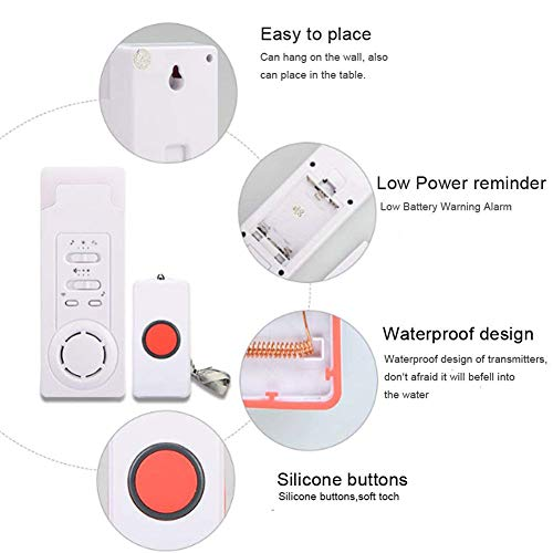 DishyKooker Wireless Call Home Elderly Patient Emergency Long Distance Wireless Call Device 1 to 2 by DishyKooker (Image #6)
