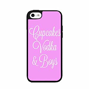 Cupcakes Vodka and Boys TPU RUBBER SILICONE Phone Case Back Cover iPhone 4 4s