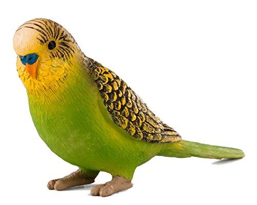 MOJO Green Budgerigar/Parakeet Bird Toy Figure
