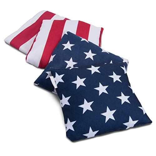 Wembley Stars & Stripes Bags Set 4-Pk, Bags for Cornhole and Target Bean Bag Toss Games, Family Fun Outdoors, Backyard Entertainment Accessory, Best Fourth of July and BBQ Bag, Great for Beach or Park ()