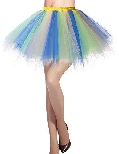 Balletti Gonna 50 Sottogonna Tutu Danza Cocktail Swing champagne di Annata Dresstells Blu Principessa Donna Tulle SwqIt5
