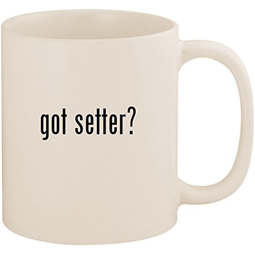 (got setter? - 11oz Ceramic White Coffee Mug Cup, White)