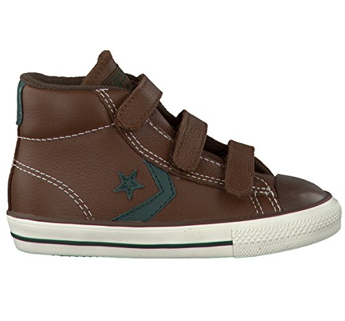 Converse  Star Player 3V Leather Mid,  Unisex-Kinder Sneaker Marrone (Marrón)