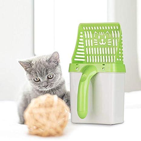 Cuchara para Gatos Neater Scooper Pala Limpia Cuchara de Tamiz de Gato Sistema Procesador de Baño