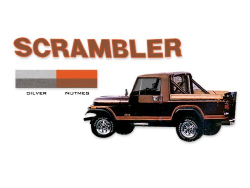 1982 Decal (1981 1982 1983 1984 Jeep Scrambler CJ8 Decals & Stripes Kit - SILVER)