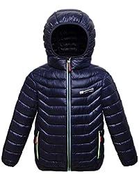 Capturelove Big Boys' Water-Resistant Hooded Puffer Jacket Coat