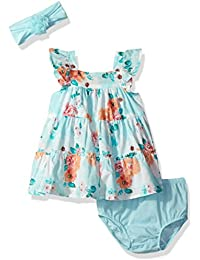 The Children's Place Baby Girls' Tiered Floral Dress and...
