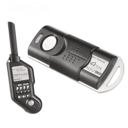 SMDV RFN-4s Wireless Remote Shutter Release for Nikon DSLR with MC30 Type connection - Transmitter and Receiver Set and a FREE Set jumbl AA Batteries & Charger For Flash Units