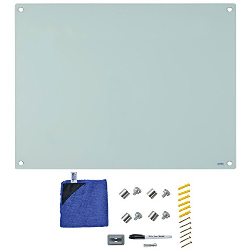 Magnetic Glass Dry Erase Whiteboard, 48 x 36 - White by Industrial Supplies