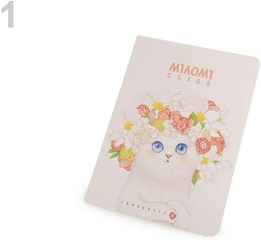 1pc Cuaderno Blanco A6 Languo Gato, Diarios, Cuadernos Y Carpetas, material Escolar, Manualidades y Manías: Amazon.es: Hogar