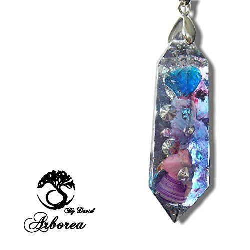Arborea Orgone Necklace, Light body activation, Pink Opal, 925 Silver, orgonite jewellery pendant by ArboreaCrystals Orgone (Image #1)