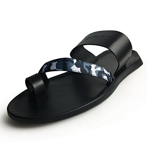 URBANFIND Men's Mules Clogs Shoes Fashion Camouflage Vintage PU Leather Slides Sandals