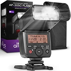 Best Epic Trends 41NuAVUWIXL._SS300_ Camera Flash Speedlite Altura Photo AP-305C for Canon EOS R RP 90D 80D 70D SL3 SL2 Rebel T7 T7I T6 T6I 5D 6D 7D M5 M6…