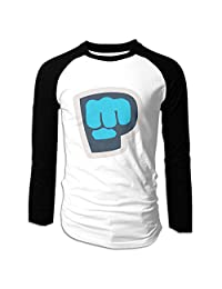 Wonalissy Mens Pewdiepie Supersoft Outdoor Long Sleeve T-Shirt Black