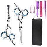 MISSAMMY 8 Pack Hairdressing Shears Hair Cutting Scissors professional Tool Set, Salon Hairdressing Tool, Professional Stainless Stee Barber Shears Set for Women Men kids Children