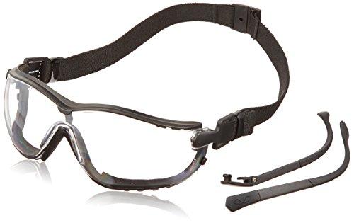 Pyramex V2G Safety Glasses, Black Frame/Clear Anti-Fog - Frames 2016 Glasses