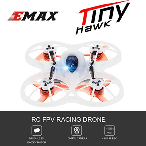Little Story  RC Helicopter, Emax Tinyhawk F4 4in1 3A 15000KV 37CH 600TVL CMOS Mini FPV Indoor Racing Drone ()