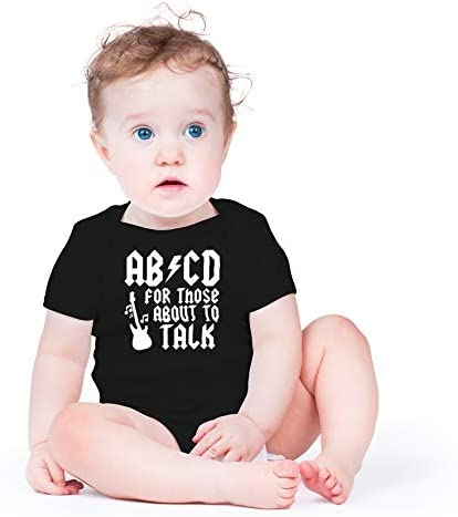 ABCD Funny Rock Baby Bodysuit//ABCD Baby Playsuit