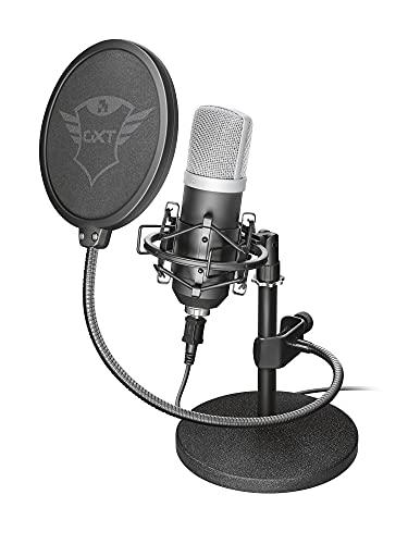 Trust Emita - Micrófono USB para Estudio, Color Negro
