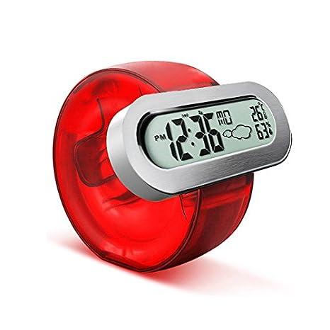 Wuchance Reloj acuático sin batería HC-103 ecológico con termómetro de Alarma Estación meteorológica: Amazon.es: Hogar