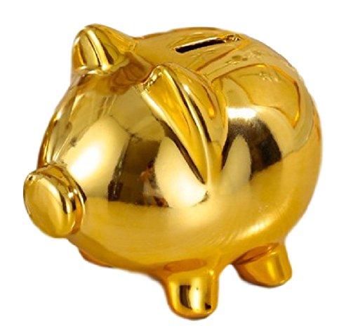 - SSJ Gold Piggy Mini Coin Bank (Small, Gold)