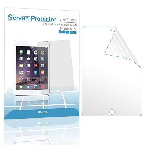 amFilm iPad Mini Screen Protector HD Clear for iPad Mini, iPad Mini 2 and iPad Mini 3 Retina Display(2-Pack)