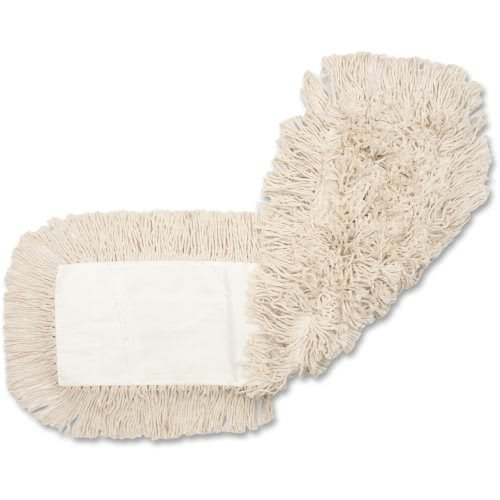 Genuine Joe GJO18500CT Disposable Cotton Dustmop Refill, 18''X5'', 12Ea/Ct, Natural (Pack of 12) by Genuine Joe
