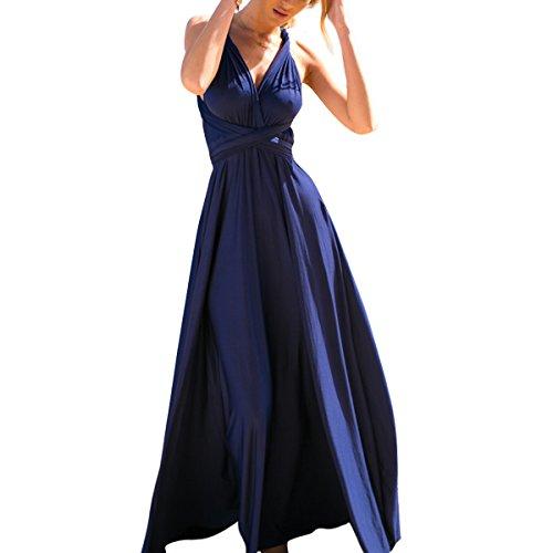 Women Transformer Infinity Evening Dress Multi-Way Wrap Convertible Halter Maxi Floor Long Dress High Elasticity (Transformers Dress)