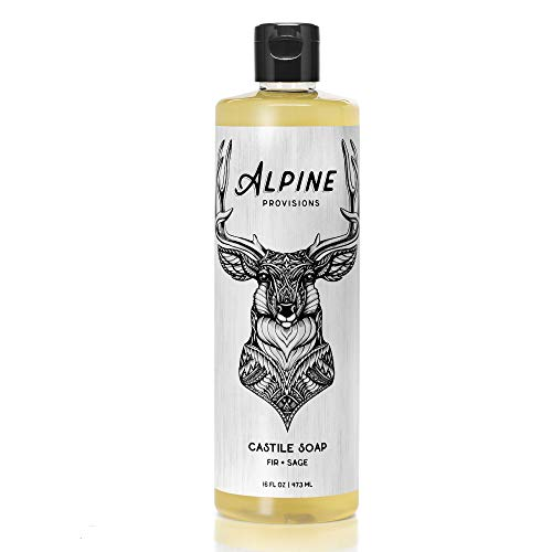 Alpine Provisions Castile Soap - Fir + Sage - 16oz. (Pangea Organics Organic Soap)