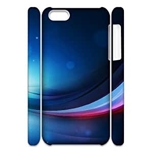 3D IPhone 5C Cases Cool Wave, Abstract Wave Cases Jumphigh, {White}