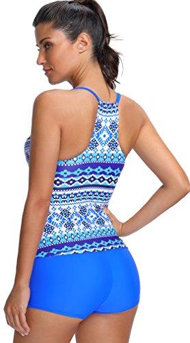 Tankinis Moda Sets Pezzi Donne Sexy Tre Emilyle Blu Costume Bikini nw8xBUqnIT